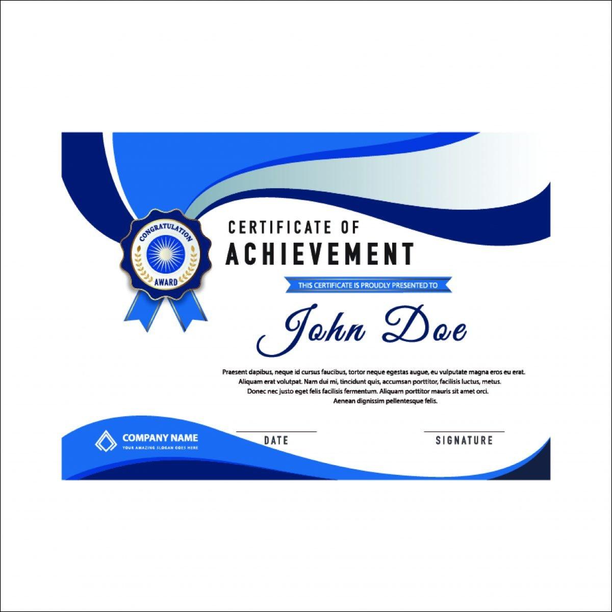 Achievement Certificate (pack of 50)