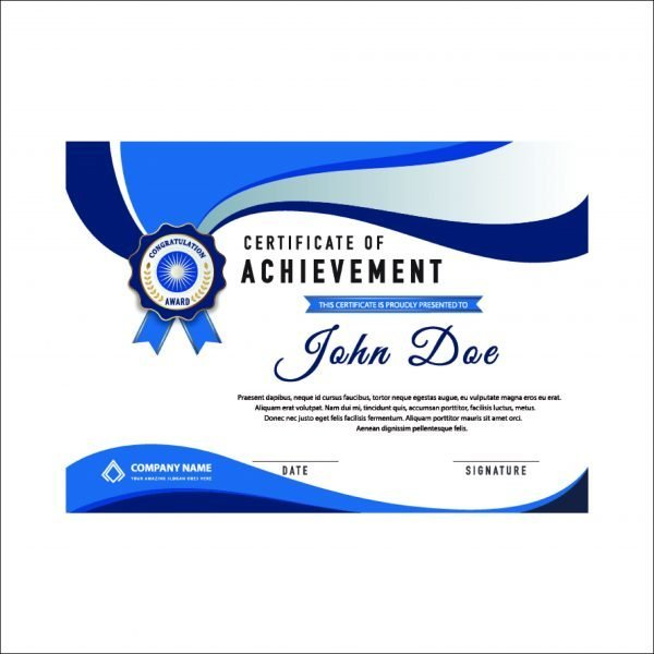 Achievement Certificate (pack of 50)