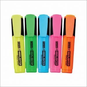 Camlin Flat tip permanent Highlighter (Set of 5)