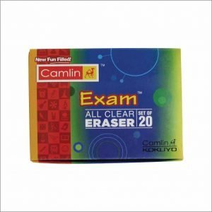 Camlin Kokuyo All Clear Regular Eraser (Pack of 20)
