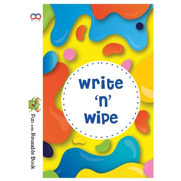 Reusable Book For Kids - Write And Wipe Book - Reusable NoteBook - Skool Store