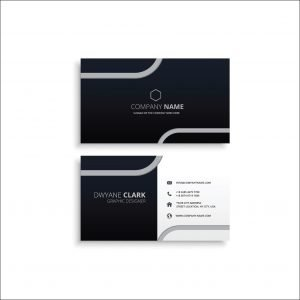 Black Bussiness Card with Amazing Design (Pack of 100)