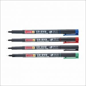 Camlin CD-DVD Marker Pen (Pack of 4) Assorted Colors (Black, Blue, Red, Green) 3