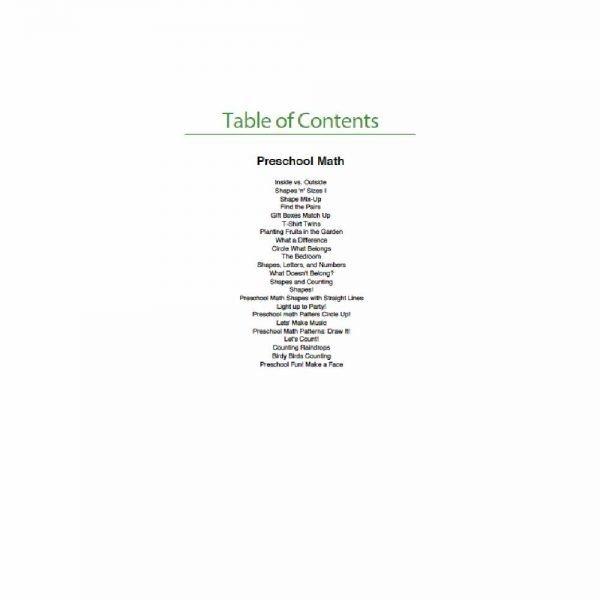 Customised Maths Preschool Workbook2
