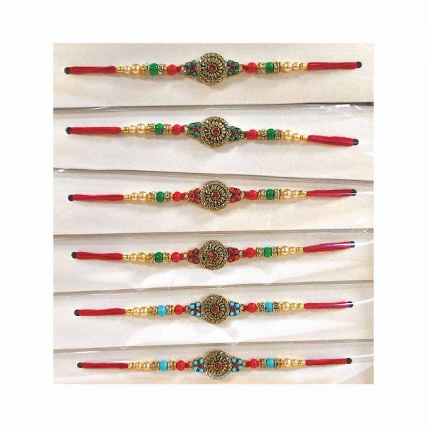 Beautiful Rakhi Set for your Brother (Pack of 6) 1