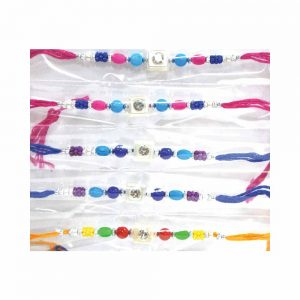 Multicolored Set of 6 Rakhi for your Brother and Cousins