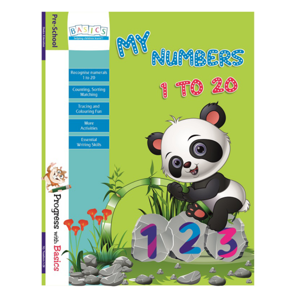 My Numbers 1 to 20 Book - Basics