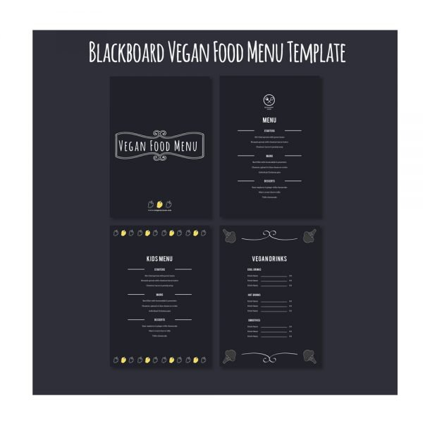 Vegan Food menu card printing online in in India and Near me