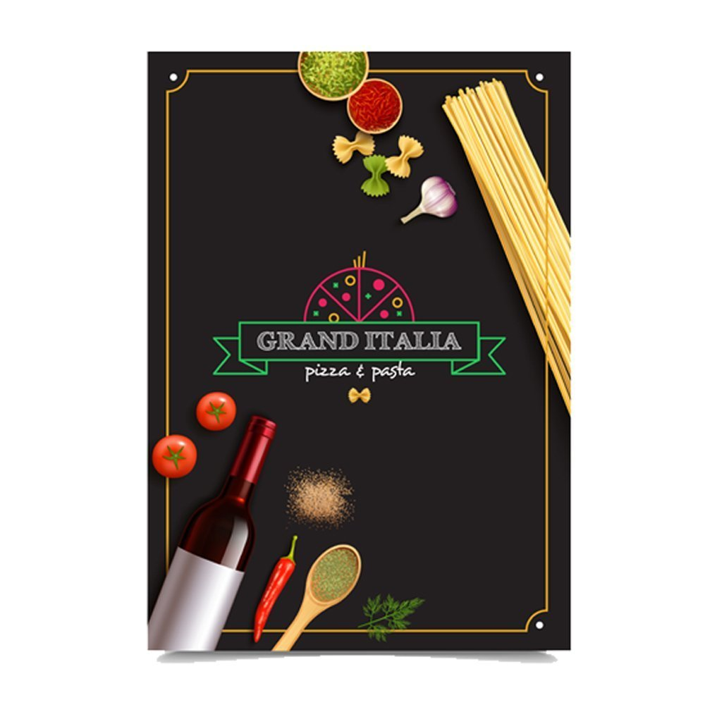 italian Restaurant menu card printing online in in India and Near me1