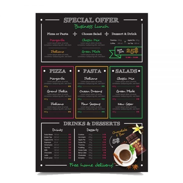 italian Restaurant menu card printing online in in India and Near me2