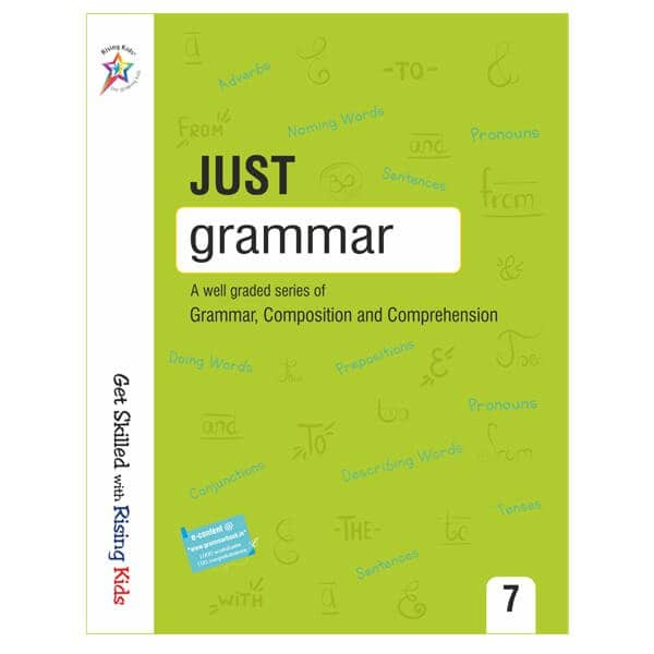 Just Grammar Book Class 7th - Rising kids -skool store