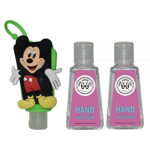The Love Co. Hand Sanitizer Pack Of 2 (IPA) 30 ml With Bag Tag (Mickey Mouse Green)