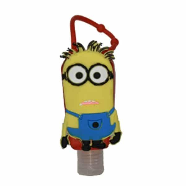 The Love Co. Hand Sanitizer Pack Of 2 (Green Apple) 30 ml With Bag Tag (Mark the minions Red)