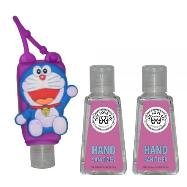 The Love Co. Hand Sanitizer Pack Of 2 (IPA) 30 ml With Bag Tag (Doremon Purple)