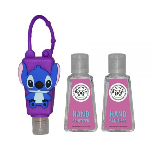 The Love Co. Hand Sanitizer Pack Of 2 (IPA) 30 ml With Bag Tag (Rabbit Purple)