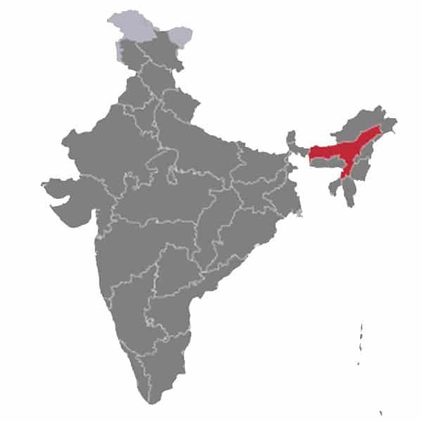 Indian Assam Map
